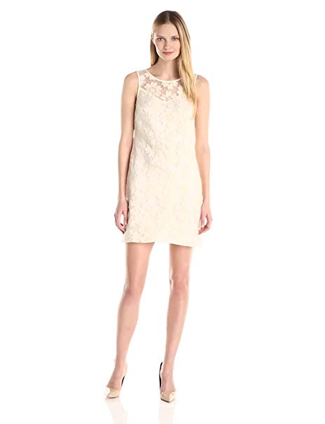 Donna Morgan Women's Floral Lace Shift Dress