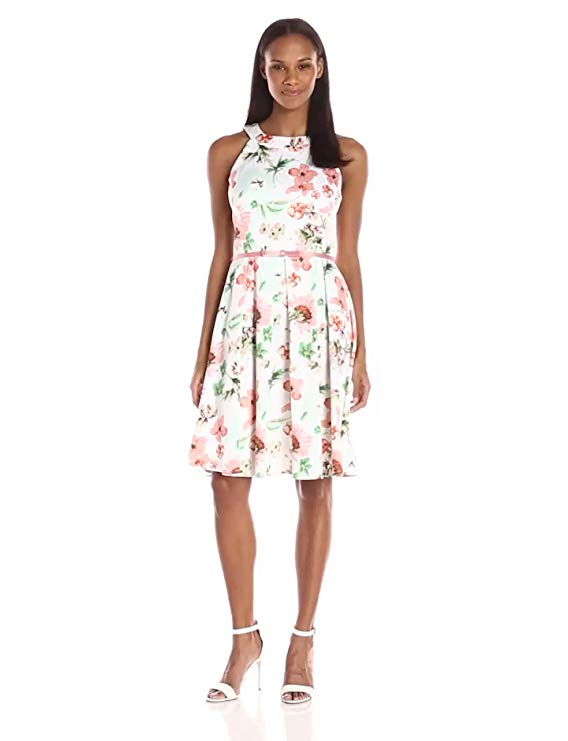 Julian Taylor Women's Floral Printed Trapeze Dress.