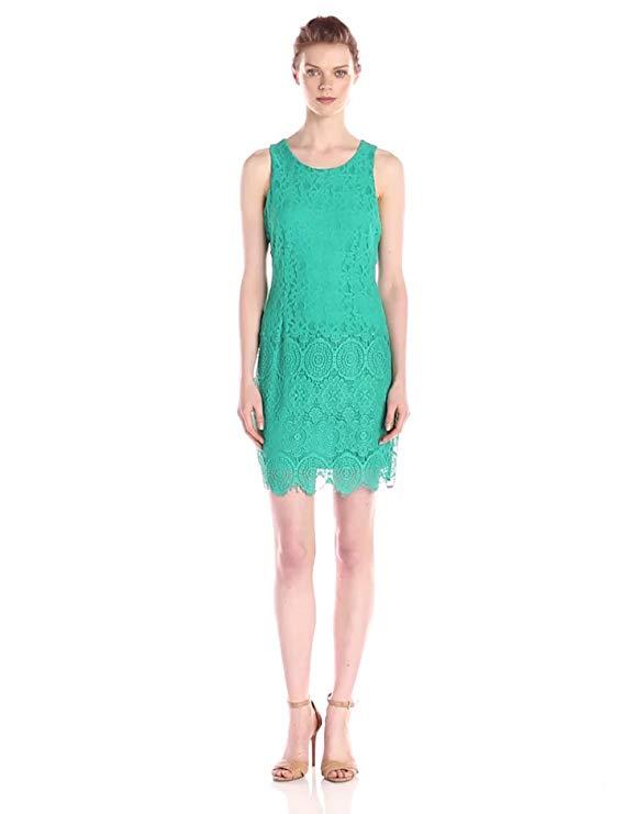 Laundry by Shelli Segal Women's Susannah Stretch Lace Sleeveless Dress