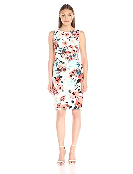 Ivanka Trump Women's Printed Scuba Dress