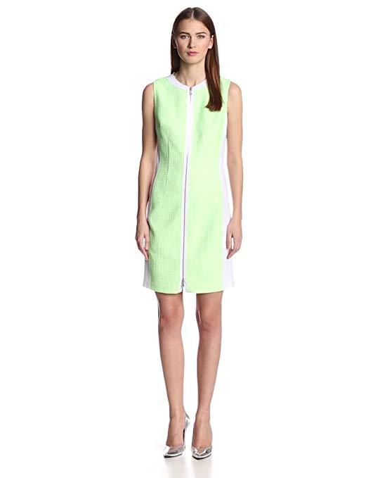 Elie Tahari Women's Mila Tweed-Scuba Sleeveless Dress