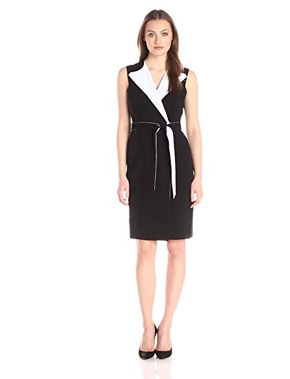 Calvin Klein Women's Color-Block Wrap Dress