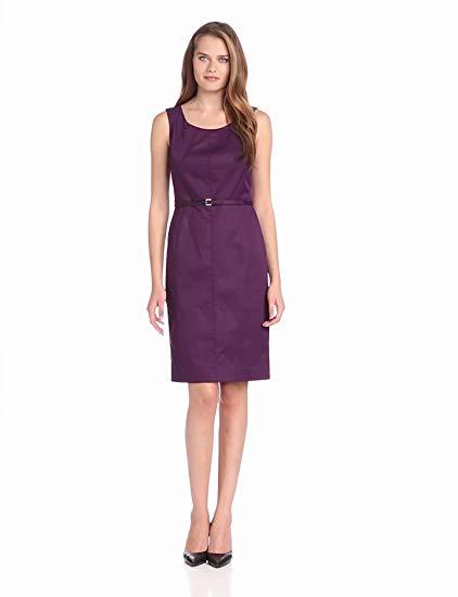 Jones New York Women's Short Sleeve Belted Dress