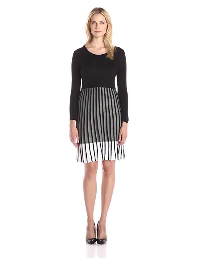 Calvin Klein Women's Long-Sleeve Ombre Sweater Dress