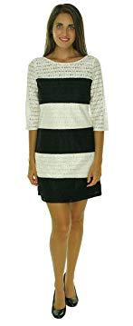 Jessica Simpson Womens Color Block Lace Shift Dress JS5M7050