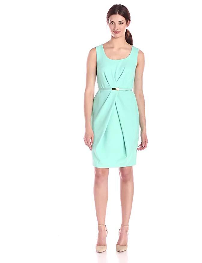Jones New York Women's Sleeveless Pleated-Waist Dress