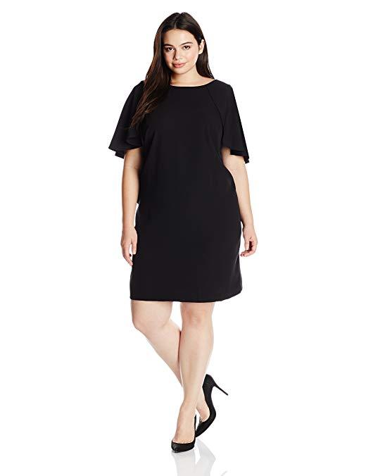 Calvin Klein Women's Plus-Size Flutter Sleeve Dress