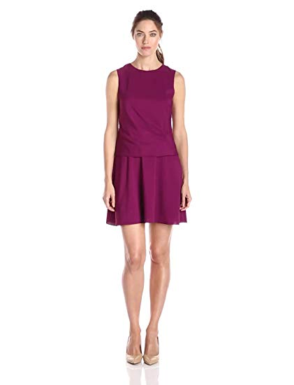 Donna Morgan Women's Sleeveless Two-Fer Dress