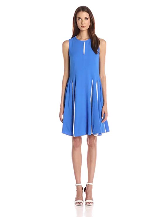 Taylor Dresses Women's Stretch Crepe Dress with Contrast Insets