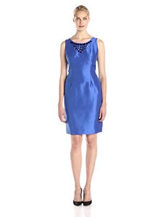 Kasper Women's Embellished Neck Sheath Dress
