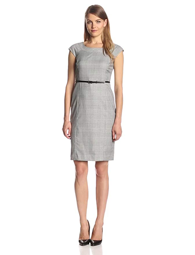 Jones New York Women's Brook Glen Plaid Stretch Dress