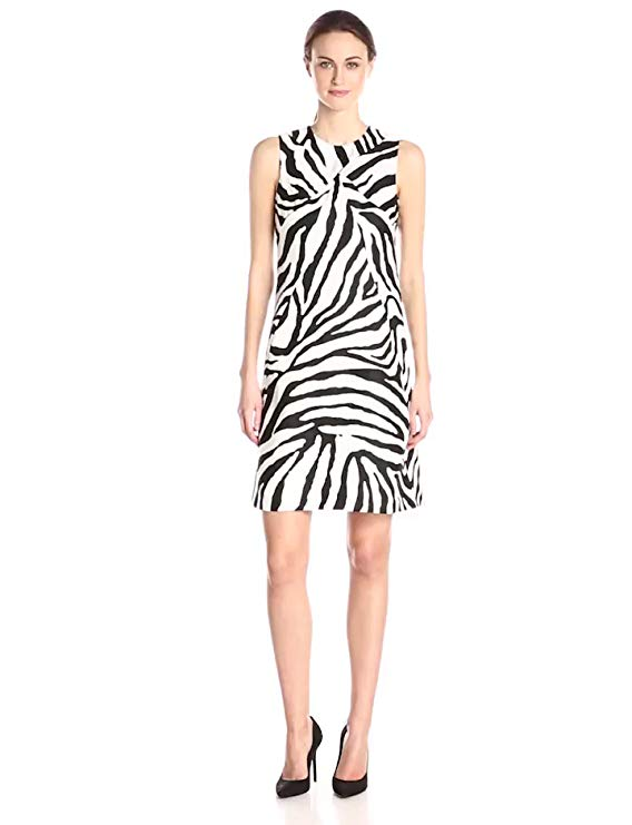 Anne Klein Women's Animal Printed Burlap Sheath Dress