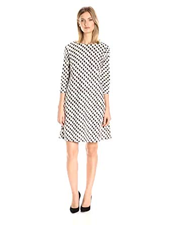 Taylor Dresses Women's Houndstooth Novelty Jacuard,