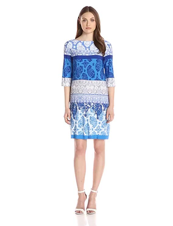 Donna Morgan Women's Multi-Print Jersey Dress