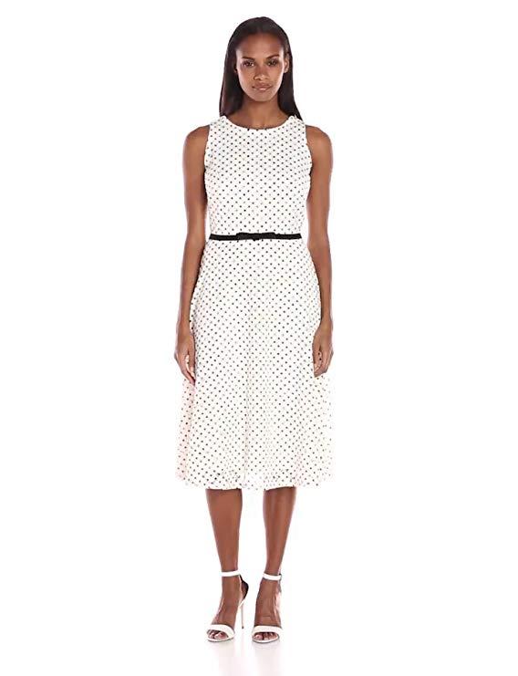Ronni Nicole Women's Sleeveless Dot Lace Dress