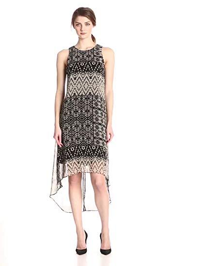 Karen Kane Women's Pueblo-Print High/Low Dress