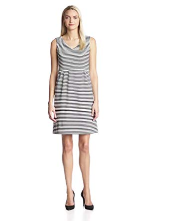 Jones New York Women's Striped Knit Sleeveless Dress
