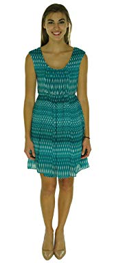 Calvin Klein Women's Pleated Printed Crepe Dress