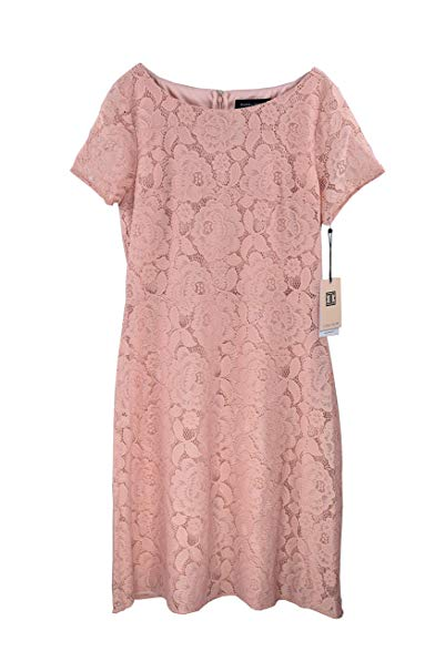 Ivanka Trump Women's Lace Overlay Dress With Cap Sleeves